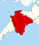 Maps of Devon Places and Surrounding Areas